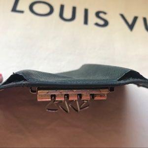 Louis Vuitton Accessories - Louis Vuitton Dark Green Taiga Leather Key Holder